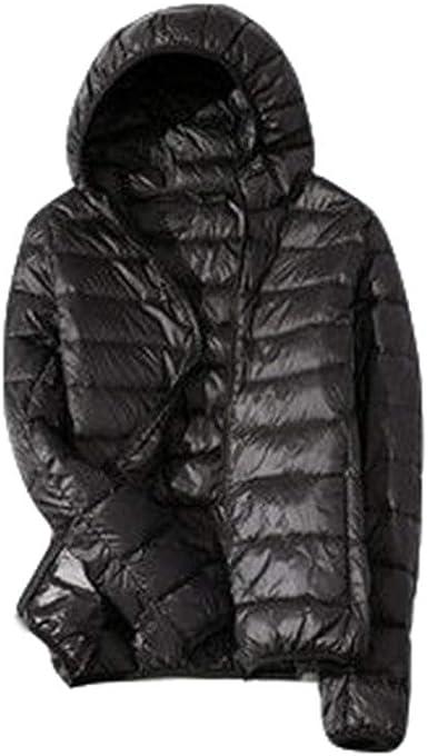 x8jdieu3 Chaqueta de Invierno para Mujer, versión Coreana Ligera de la Camisa cálida Casual Delgada de Gran tamaño con Capucha Corta: Amazon.es: Ropa y accesorios