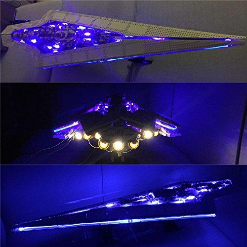 Superstar Destroyer (JULITE LED Light Kits For Star Wars Super Star Destroyer Building Blocks - Lego 10221)