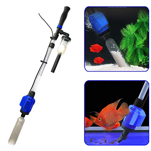 (YADICO Electric Aquarium Gravel Cleaner, 3 in 1 Automatic Sludge Extractor for Fish Plant Tanks)