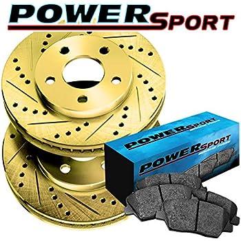 Fit 2004-2006 Cadillac SRX Front Rear Sport Drill Slot Brake Rotors+Ceramic Pads