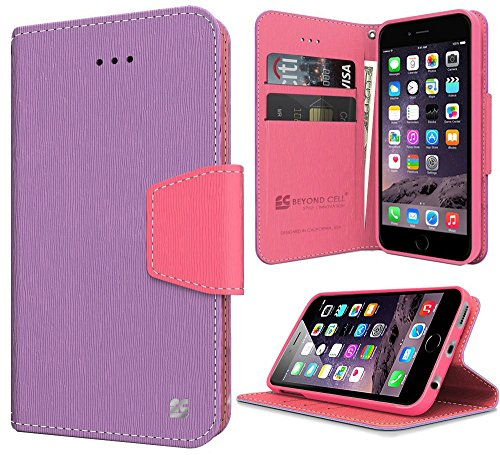 Beyond Cell Folio Case for iPhone 6 - Purple/Pink from Beyond Cell