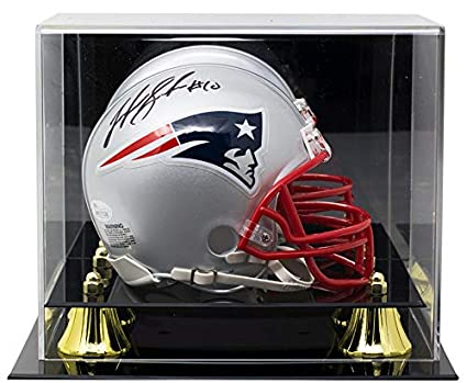 e165c9fd Josh Gordon Signed New England Patriots Mini Helmet JSA ITP w/Deluxe  Acrylic Case