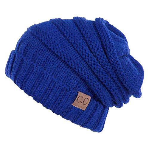 Royal Blue Knit Hat - 7
