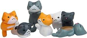 BESPORTBLE 6pcs Mini Cats Miniature Vivid Cute Micro Craft for Plant Pots Garden Succulent Bonsai Micro Landscape