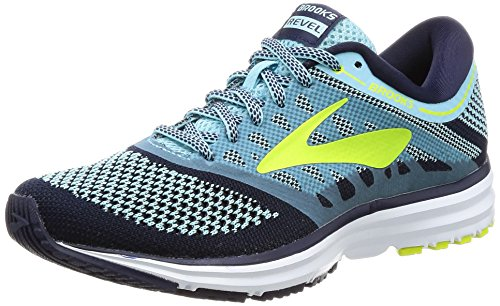 Brooks Women's Revel Island Blue/Evening Blue/Lime Popsicle Athletic Shoe (Brooks Athletic Apparel)
