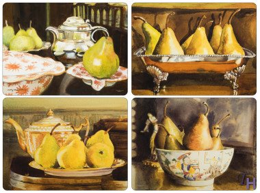 Pimpernel Pears Coasters - Set of 6