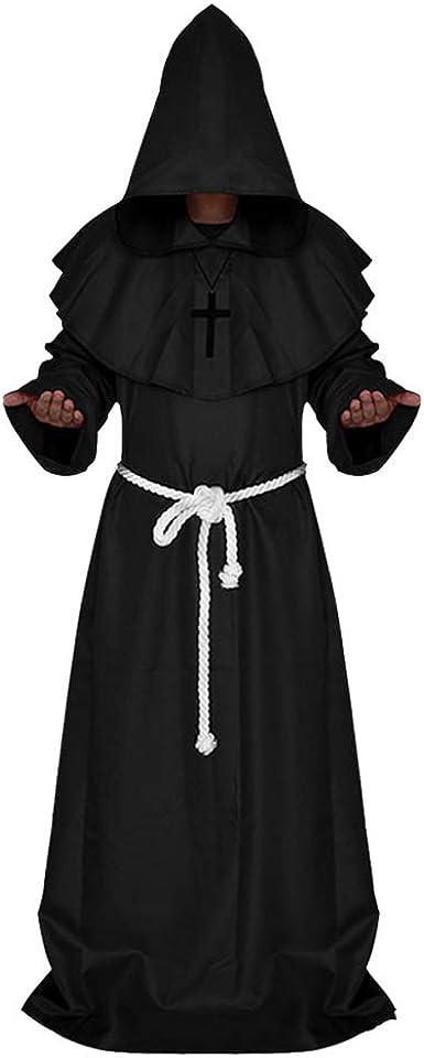 ZhongYeYuanDianZiKeJi Disfraz de Monje Capa con Capucha Capa ...