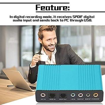 creatspaceES Tarjeta de Sonido USB Profesional Externa Canal ...