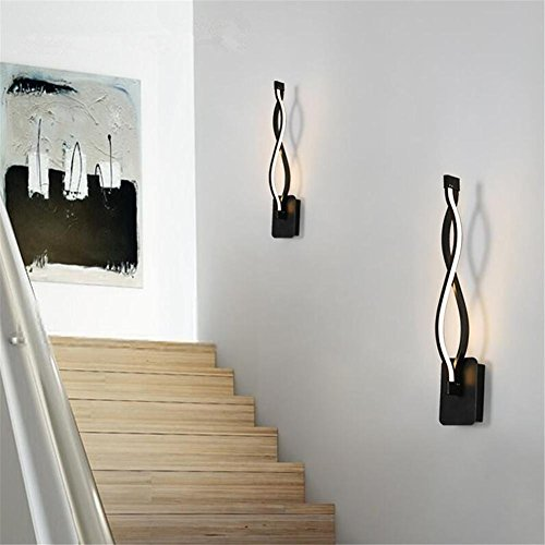 Mur Lampe Piscine Noire Murale Aluminium Courbe Moderne Lumière Led kOPTZwXiu