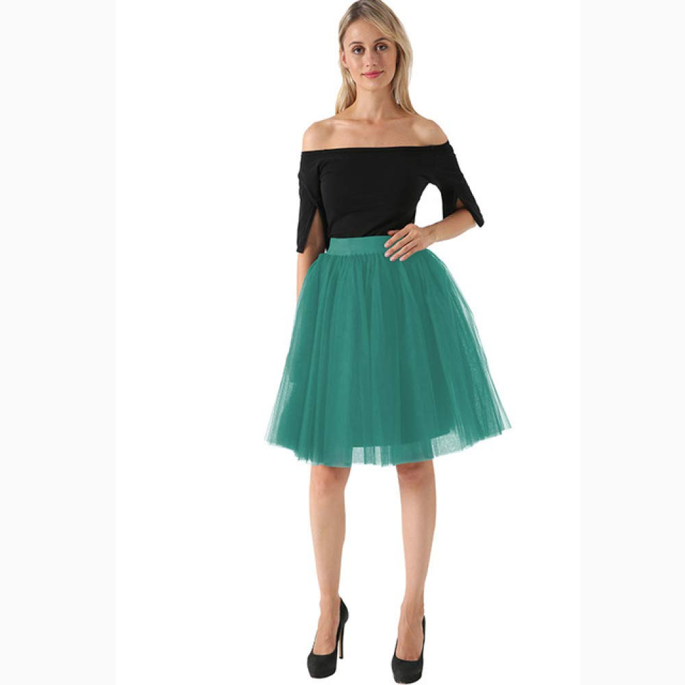 KLGDF Falda Calidad 5 Capas Falda de Tul de Moda Faldas Plisadas ...