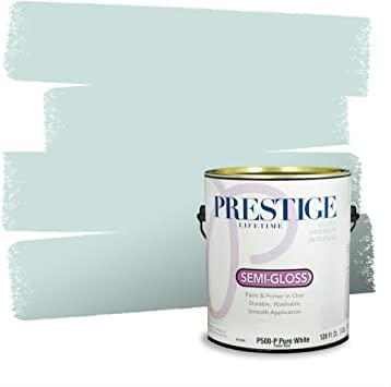 Prestige Paints Interior Paint And Primer In One Comparable Match Of Behr Whipped Mint Semi Gloss 1 Gallon Amazon Com