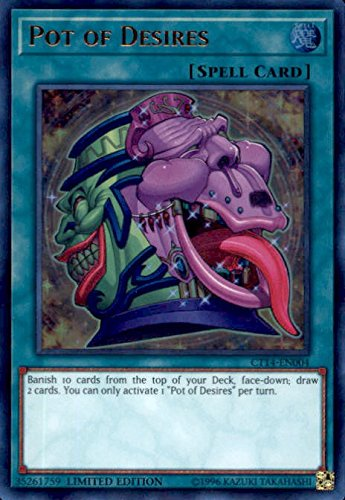 Yugioh Pot of Desires CT14-EN004 Ultra Rare Limited Edition Mega