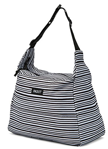 - PackIt Freezable Hobo Lunch Bag, Wobbly Stripes