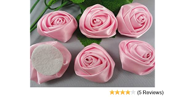 Amazon 15pc Big Satin Ribbon Rose Flower Diy Craft Wedding