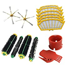 CF Clean Fairy iRobot Roomba 500 530 550 560 Series Vacuum Accessory Refresh Parts Kit Side Brush Beater Flexible Bristle Brushs