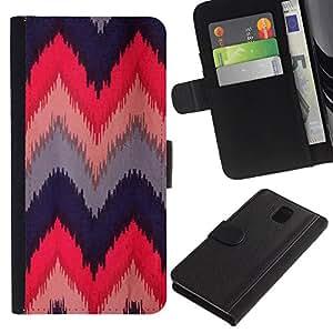 WINCASE Cuadro Funda Voltear Cuero Ranura Tarjetas TPU Carcasas Protectora Cover Case Para Samsung Galaxy Note 3 III - rosas negro verde minimalistas de color rosa