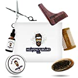 Beard Grooming Kit Gift Set – 2oz Bay Rum Beard Balm Conditioner, 1oz Sandalwood Beard Oil, Brush, Comb, Trimming Scissors by HBCO Review
