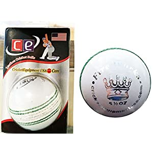 CE White Cricket Ball Fireworks by Cricket Equipment USA