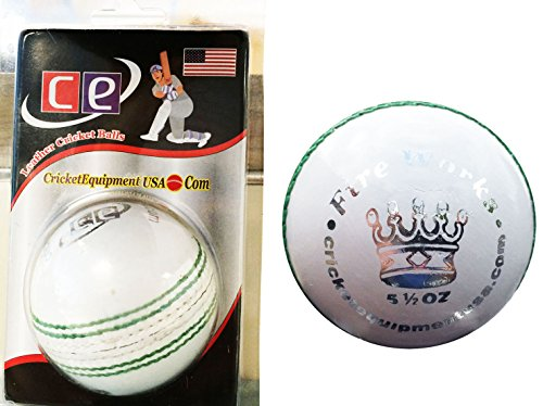 White Cricket Ball Fireworks by Cricket Equipment USA