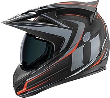 Icono Variant – Casco de Moto RAID negro carbono