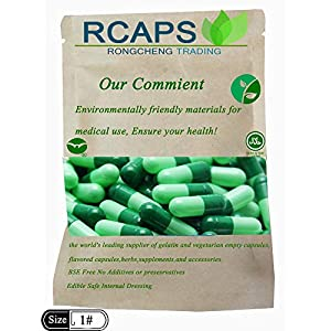 """RCAps Empty Gelatin Capsules – 100-1000 Size""""1″ Bulk Wholesale Great for Dogs and Kids Medication -…"""