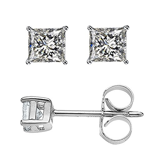 925 Sterling Silver 3mm By 3mm Mini Sterling Silver Cubic Zirconia Stud Earrings