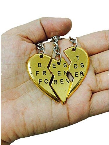 BFF mejores amigos para siempre llaveros de Split Corazón ...