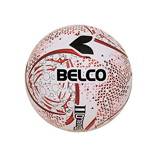 Belco Sports Diablo II Red 4Ply 1.4m PU 6 Panel Football Size 5