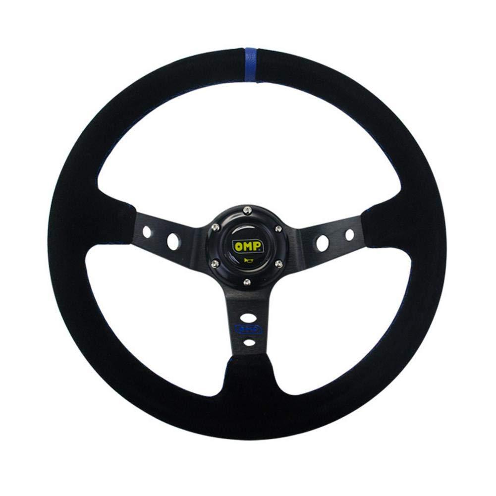 Volant pour Voiture ajoute des /él/éments de Sport et de Mode Volant de Direction Volant de Direction g/én/érale en Nubuck de 14 Pouces // 350MM pour Voiture OMP