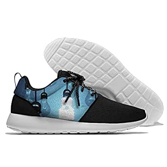 Lightbulbs Men's Mesh Running Shoes Sneakers Breathable Athletic Workout Fitness Sports Shoes Trainers 44
