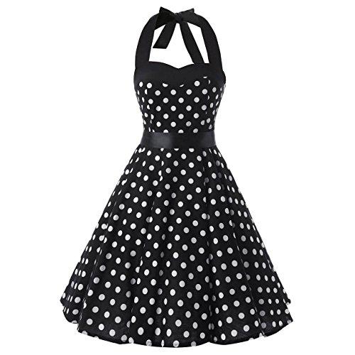 halter neck 50s dress - 8