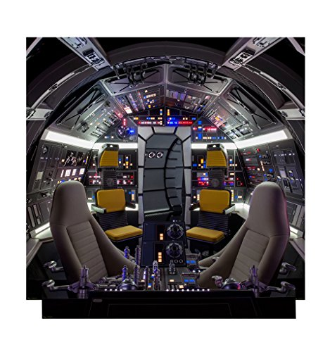 Advanced Graphics Cockpit of Millenium Falcon Backdrop Life Size Cardboard Cutout Standup - Solo: A Star Wars Story (2018 Film)