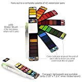 Fan-Pan Nomad Watercolor Paint Set with Arches Cold