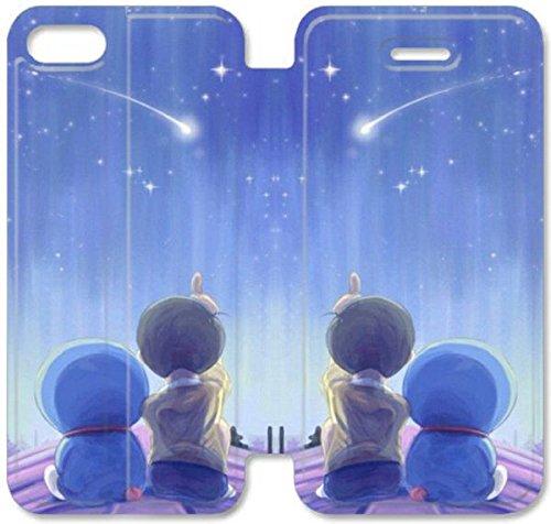 Flip étui en cuir PU Stand pour Coque iPhone 5 5S, bricolage 5 5S cellulaire Phone Coque Case Flip Pu en cuir Stand pour Coque iPhone 5 5S, bricolage 5 5S étui de téléphone cellulaire Doraemon F1Q1JK