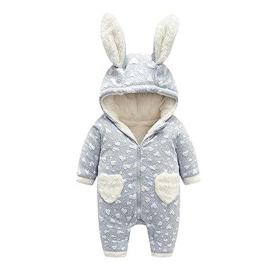 0aa21adcd818 Amazon.com  Genda 2Archer Infant Baby Boys Girls Cute Bunny Hooded ...