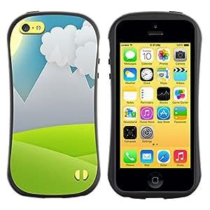 Be-Star Impreso Colorido Diseño Antichoque Caso Del iFace Primera Clase Tpu Carcasa Funda Case Cubierta Par Apple iPhone 5C ( Minimalist Grass Valley )