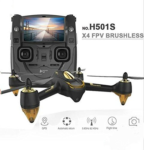 VANGOOG Hubsan H501S X4 FPV(生中継 動画 リアルタイム) GPS 1080P HD カメラ RC ドローン ラジコン クアッドコプター マルチコプター (黑)の商品画像