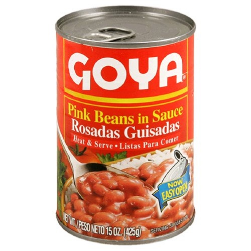 Goya Beans Canned - Goya Pink Beans in Sauce (Guisadas), 15-Ounce Units (Pack of 6)