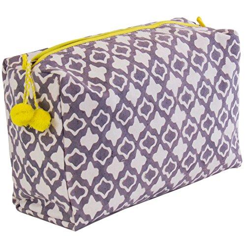 Graymarket Cotton Toiletry Bags, Navy Dot