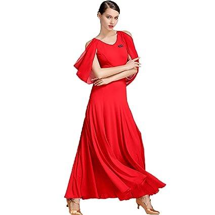 0a4f25b639 Vestido de Las señoras de Las señoras Lírico Contemporáneo Fuera del Hombro  Falda Plisada Vestido Largo