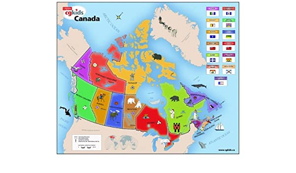Map Of Canada Grade 6.Amazon Com Canadian Geographic Kids Map Of Canada Toys Games