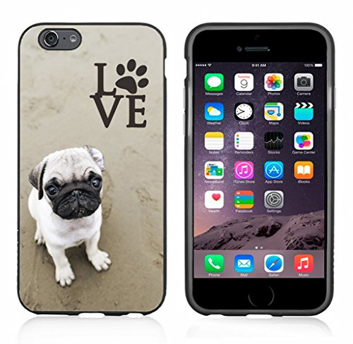 Pug Love with Paw Case/Cover for iPhone 6 or 6S by Atomic Market