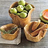 Vivaterra Root of The Earth Natural Wooden Bowls - Set of 3 - Largest is 9 H x 11-13'' Diam.