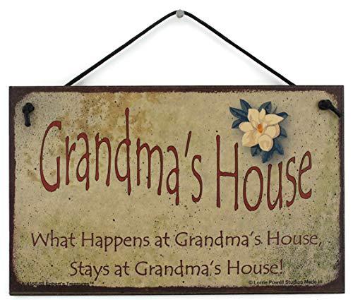 "5x8 Vintage Style Sign with Magnolia Saying, ""Grandma"