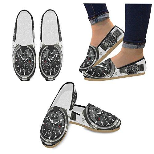 Interestprint Music Skull Mocasines Zapatos Casuales Para Hombres Mujeres Relojes