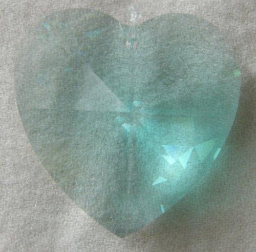 Swarovski 40mm Antique Green Large Crystal Faceted Heart (Antique Austrian Crystal)