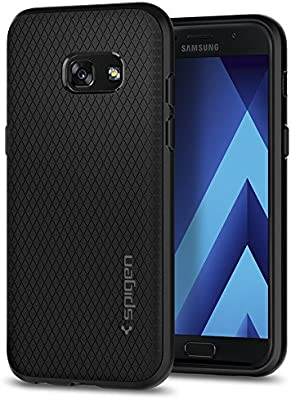 finest selection 9af95 4ae4d Spigen Galaxy A3 2017 Case, [Liquid Air] [Black] Premium TPU Ultimate  Protection Air Cushion Technology Phone Case Cover for Galaxy A3 2017 -  Black ...
