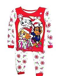 Paw Patrol Toddler Girls Christmas Holiday Snowflake Pajamas