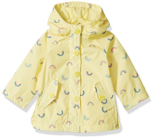 Osh Kosh Baby Girls Sweet Lil' Rainslicker Rain Jacket, Rainbows Lemonade, 18M by OshKosh B'Gosh