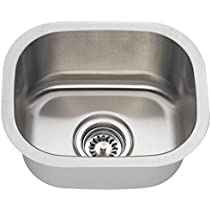 MR Direct 1512 18-Gauge Undermount Single Bowl Stainless Steel Bar Sink